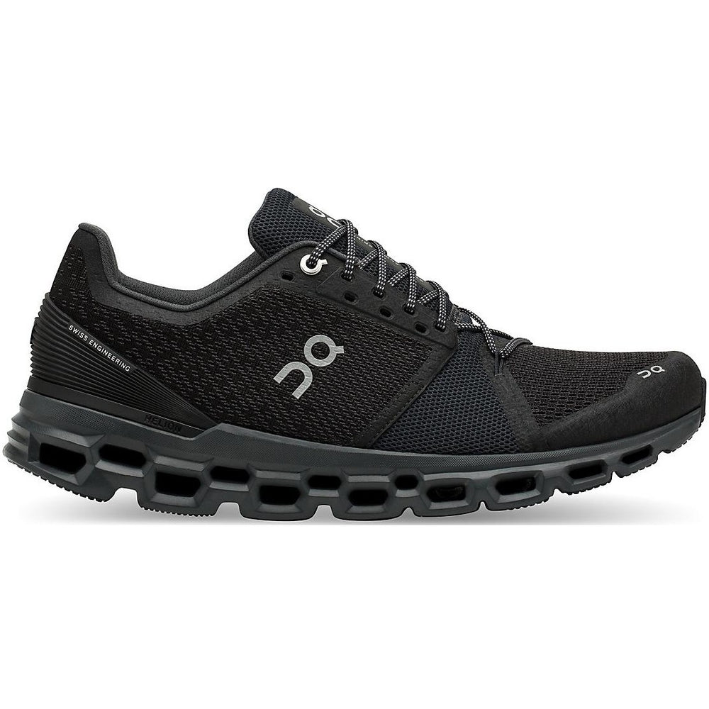 On Men's Cloudstratus Running Shoes Black & Shadow