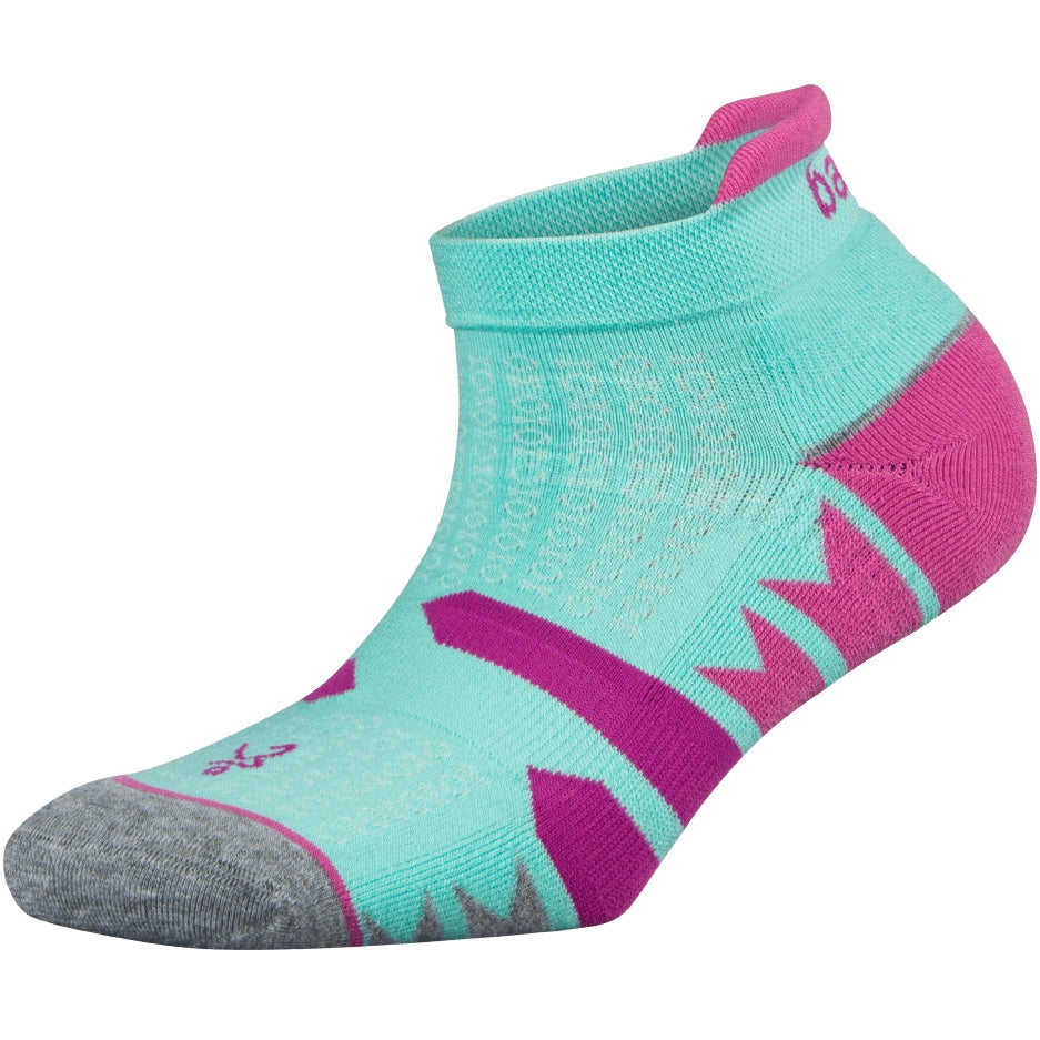 Balega Women's Enduro No Show Running Socks Light Aqua & Mid Grey