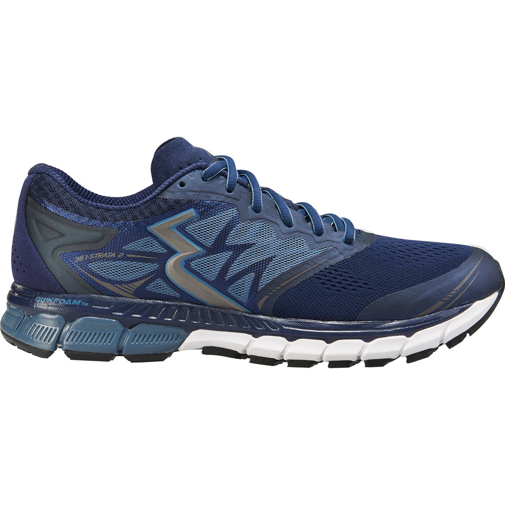 361 Degrees Men's Strata 2 Running Shoes Peacoat / Storm - achilles heel