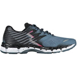 361 Degrees Women's Nemesis Wide Fit Running Shoes Storm / Black - achilles heel