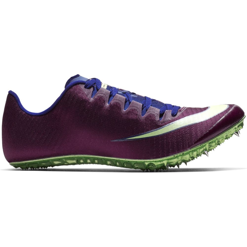 Nike Superfly Elite Running Spikes Bordeaux / Lime Blast - achilles heel