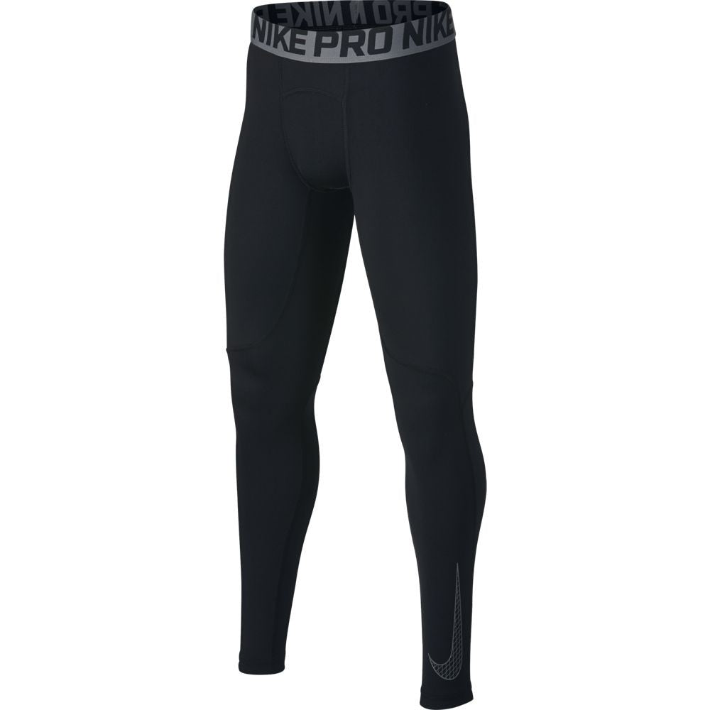 Nike Boys Pro Tight Black - achilles heel