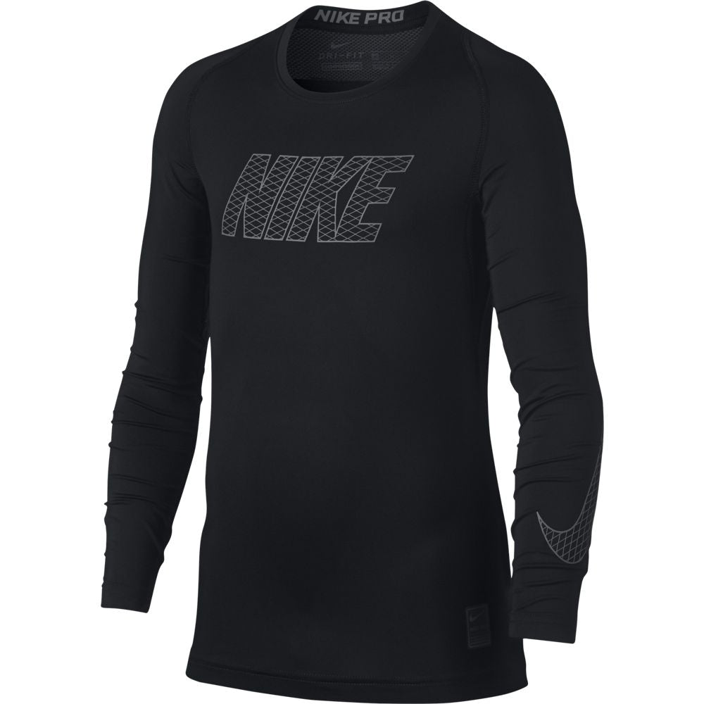 Nike Boys Pro Top Black & White FA18 010 - achilles heel