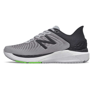 New Balance Men's 860v11 Running Shoes Light Aluminum / Black - achilles heel