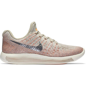 Nike Women's LunarEpic Low Flyknit 2 Running Shoes Pale Grey / Metallic Silver - achilles heel