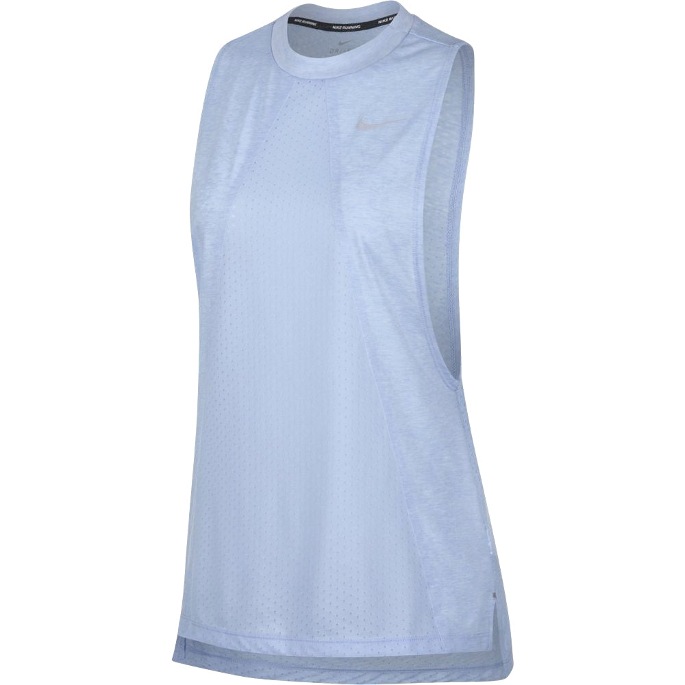 Nike Women's Tailwind Cool Tank Royal Tint & Heather SU18 415