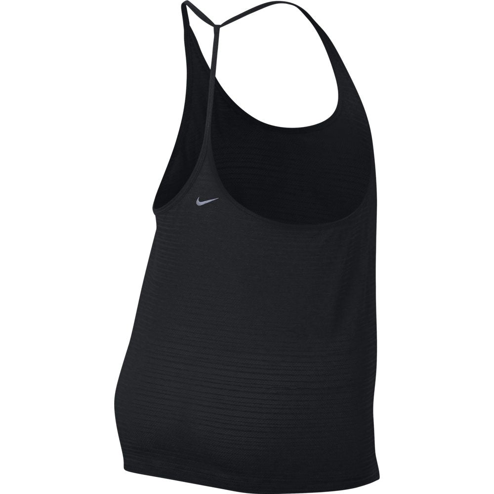 Nike Women's Miler Breathe Tank Black Heather SU18 010 - achilles heel