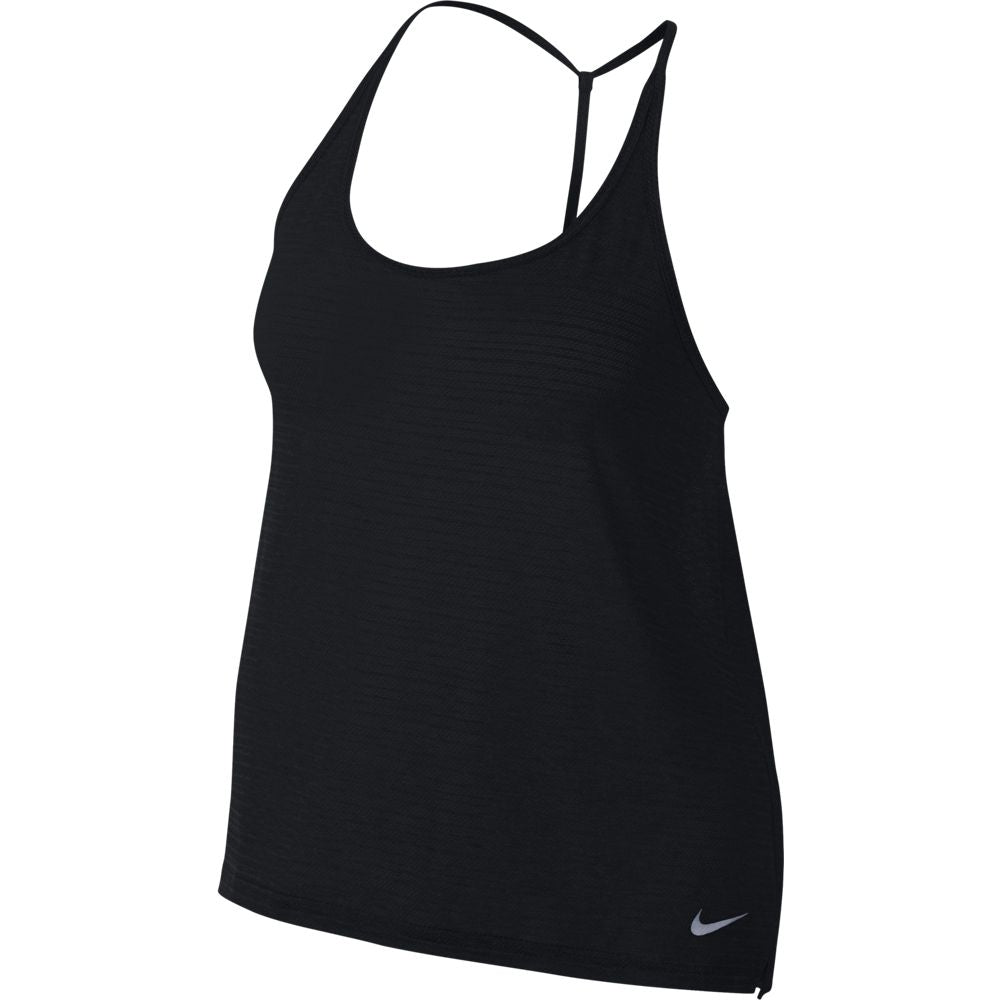 Nike Women's Miler Breathe Tank Black Heather SU18 010