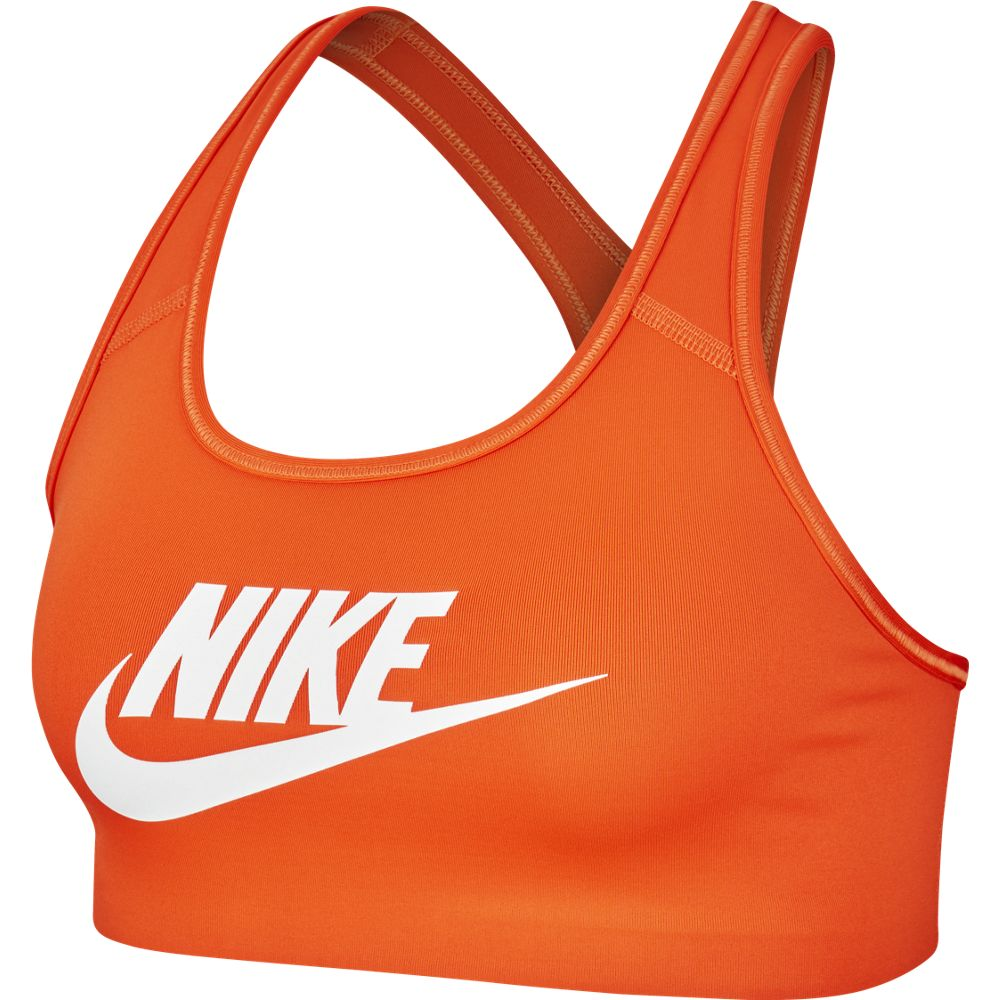 Nike Women's Swoosh Futura Bra Team Orange / White