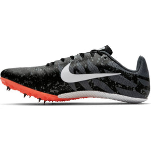 Nike Zoom Rival S 9 Running Spikes Black / White / Iron Grey - achilles heel