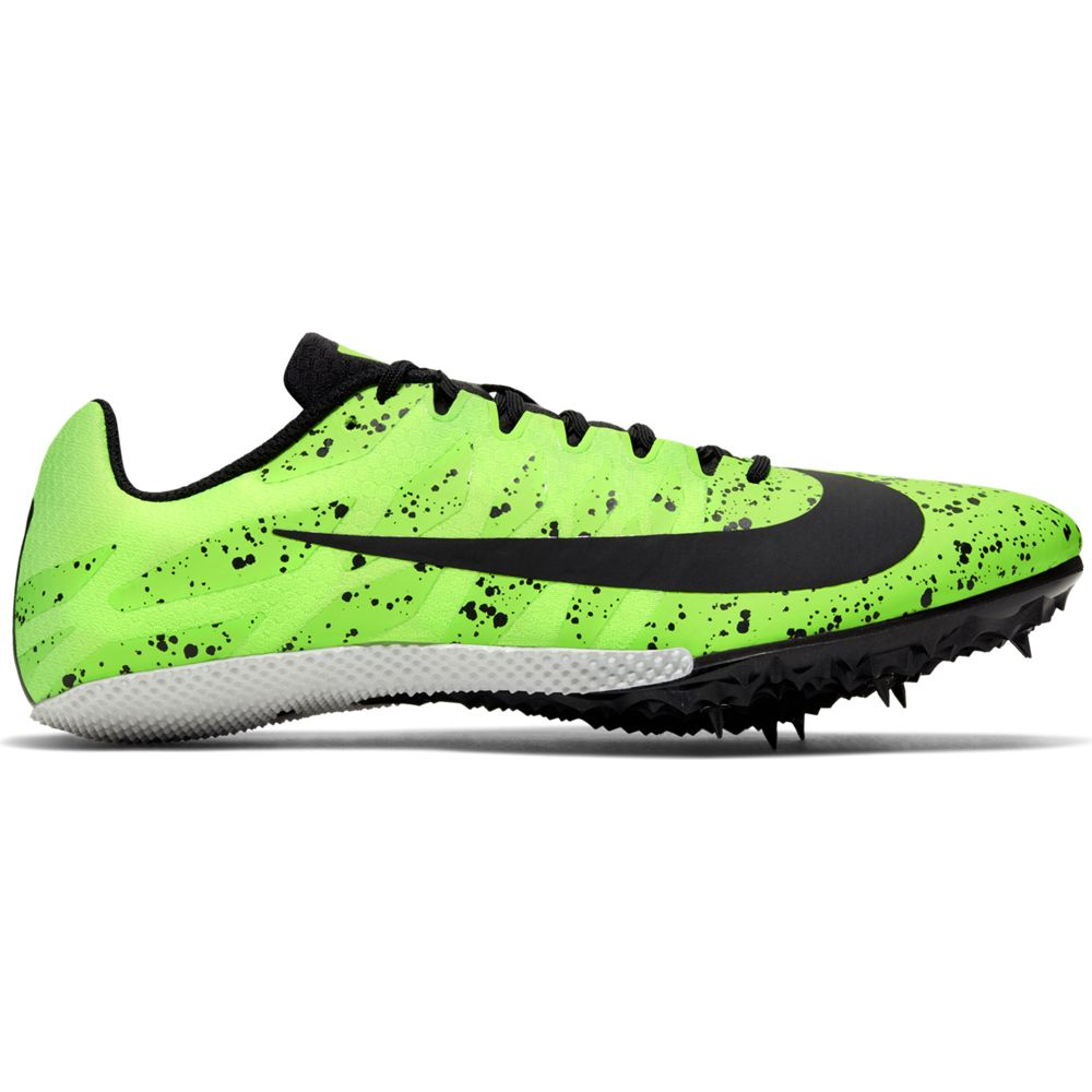Nike Zoom Rival S 9 Running Spikes Electric Green / Black - achilles heel