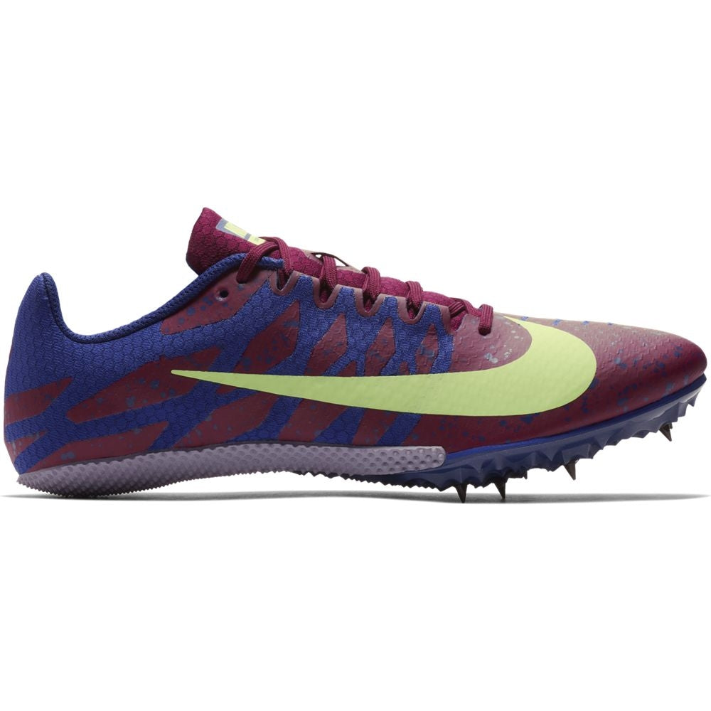 Nike Zoom Rival S 9 Running Spikes Bordeaux / Lime Blast