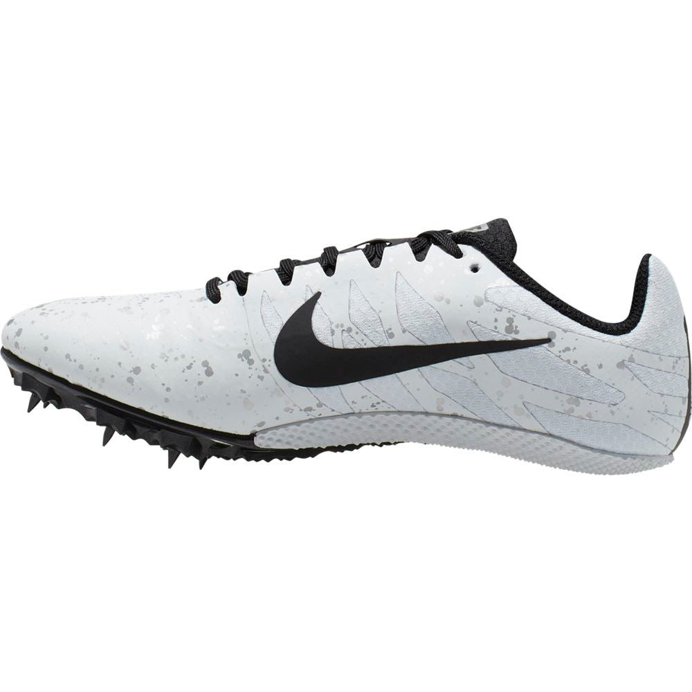 Nike Women's Zoom Rival S 9 Running Spikes Pure Platinum / Black / Metallic Silver - achilles heel