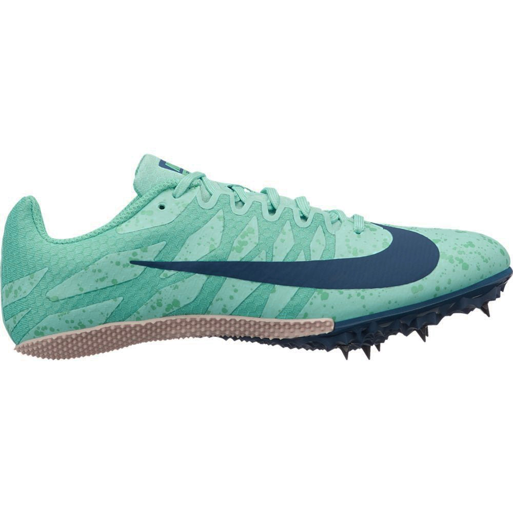 Nike Women's Zoom Rival S 9 Running Spikes Aurora Green / Blue Void - achilles heel