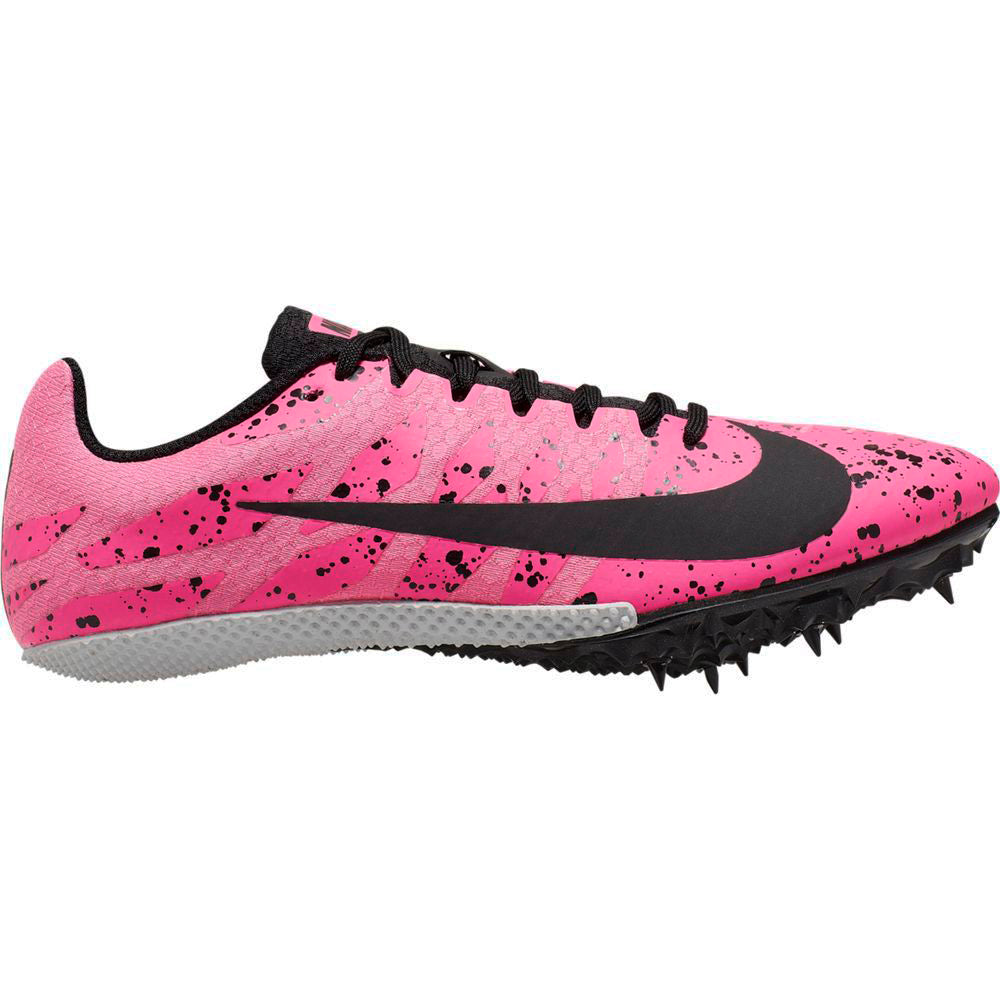 Nike Women's Zoom Rival S 9 Running Spikes Pink Blast / Black / Pure Platinum