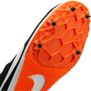 Nike Zoom Rival D 10 Running Spikes Black / White / Iron Grey / Hyper Crimson - achilles heel