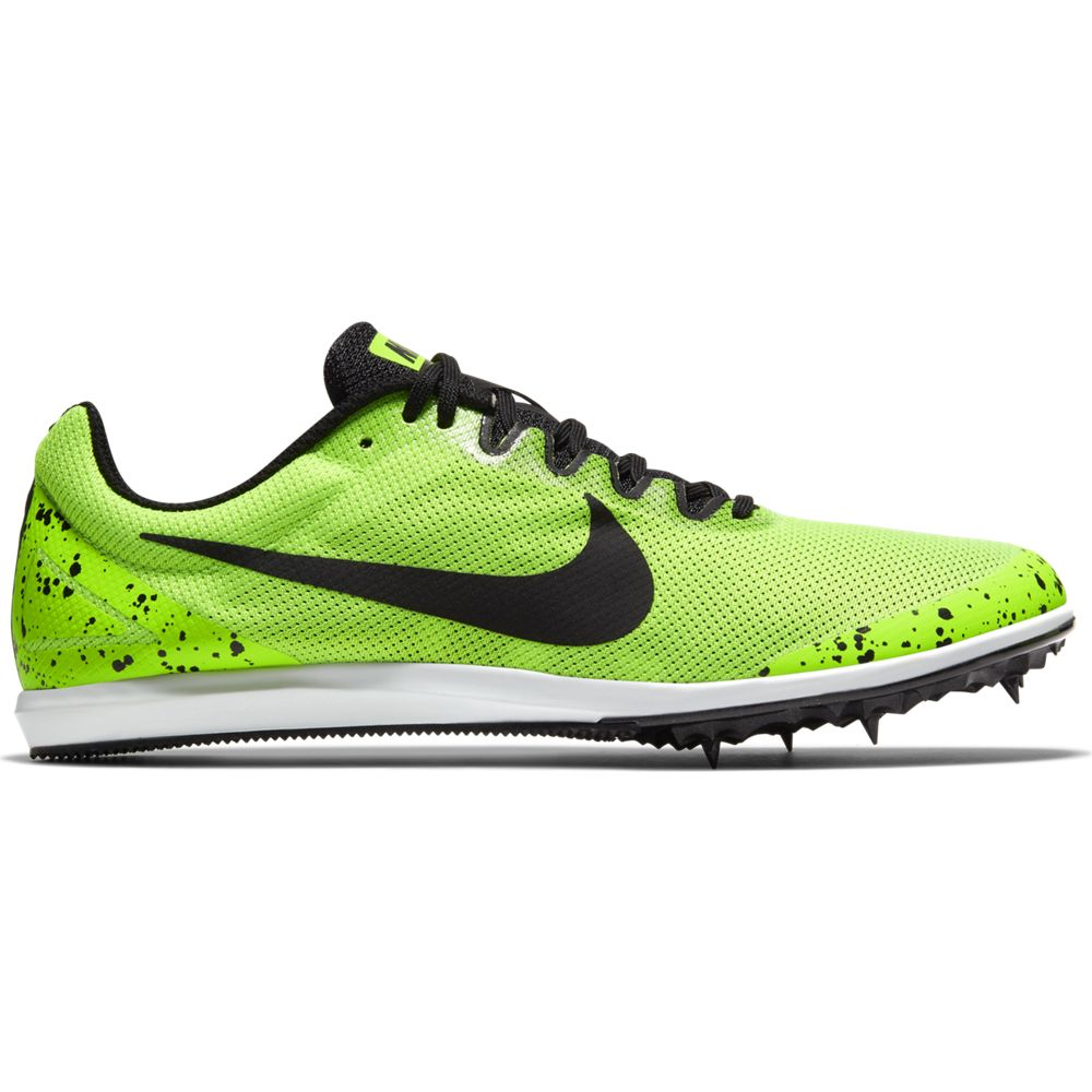 Nike Zoom Rival D 10 Running Spikes Electric Green / Black / Pure Platinum