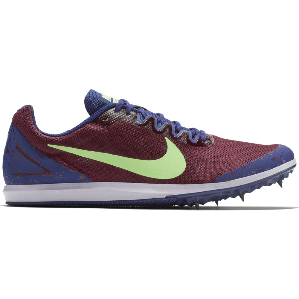 Nike Zoom Rival D 10 Running Spikes Bordeaux / Lime Blast