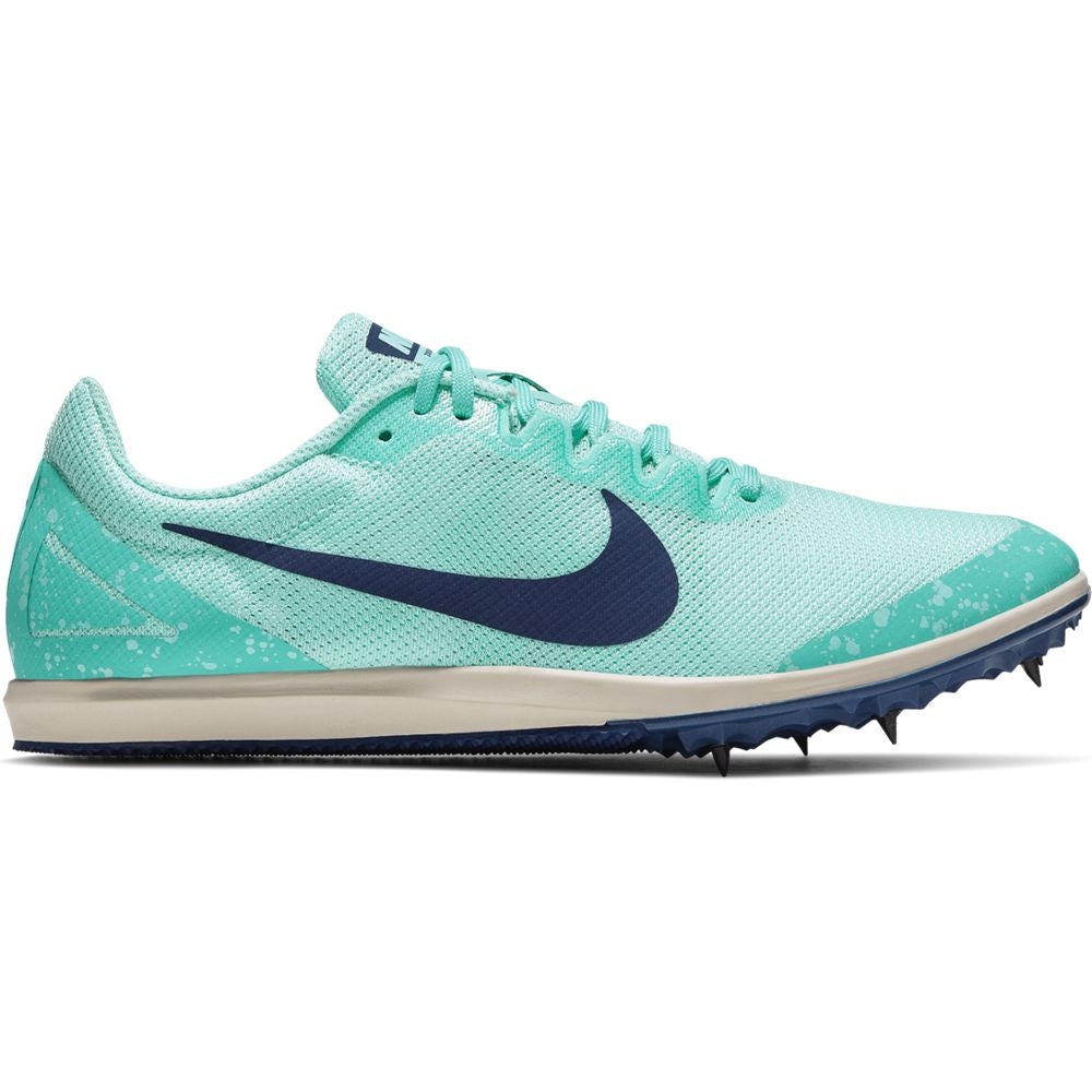 Nike Women's Zoom Rival D 10 Running Spikes Aurora Green / Blue Void