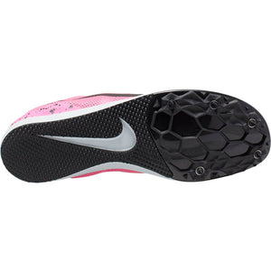 Nike Women's Zoom Rival D 10 Running Spikes Pink Blast / Black Pure Platinum - achilles heel
