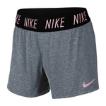 Nike Girls Trophy 4 Inch Short Carbon Heather / Pink - achilles heel