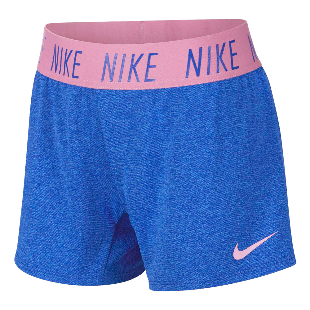Nike Girls Dry Trophy 4 Inch Short Hyper Blue / Magic Flamingo - achilles heel