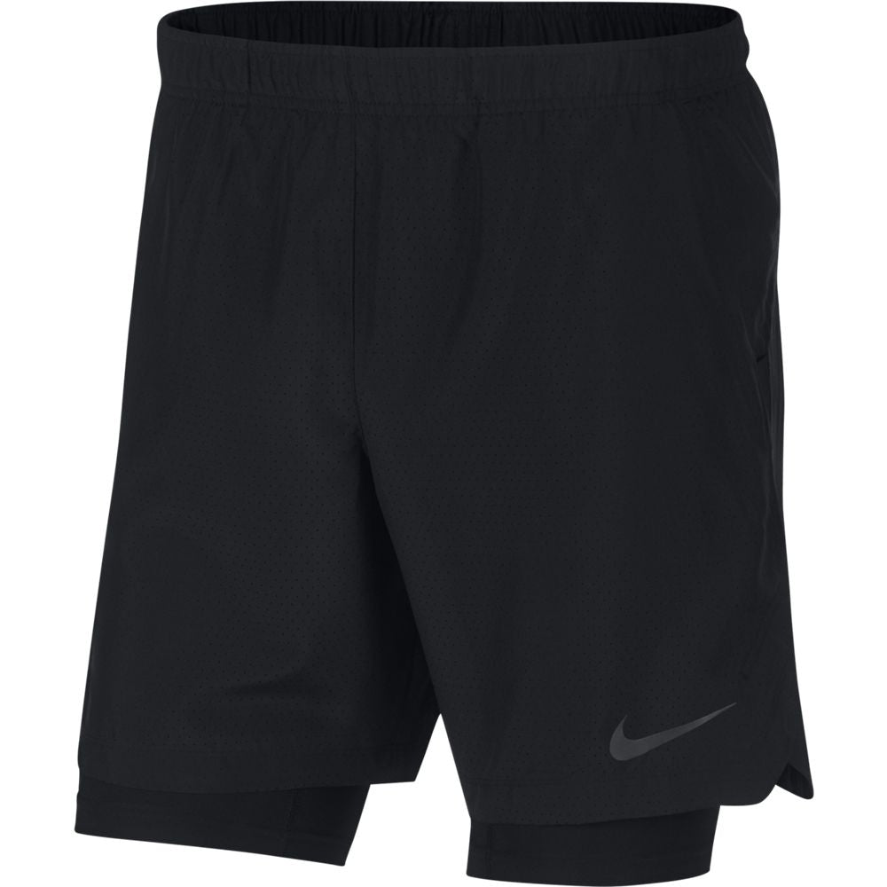 Nike Men's Challenger 2 in 1 7 Inch Short Black FA18 010