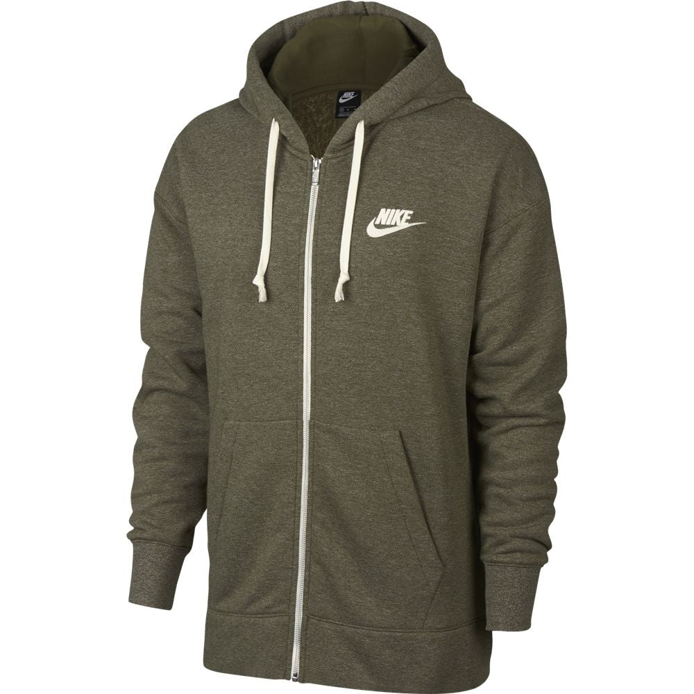 Nike Men's Sportswear Heritage Full-Zip Hoodie Olive Canvas