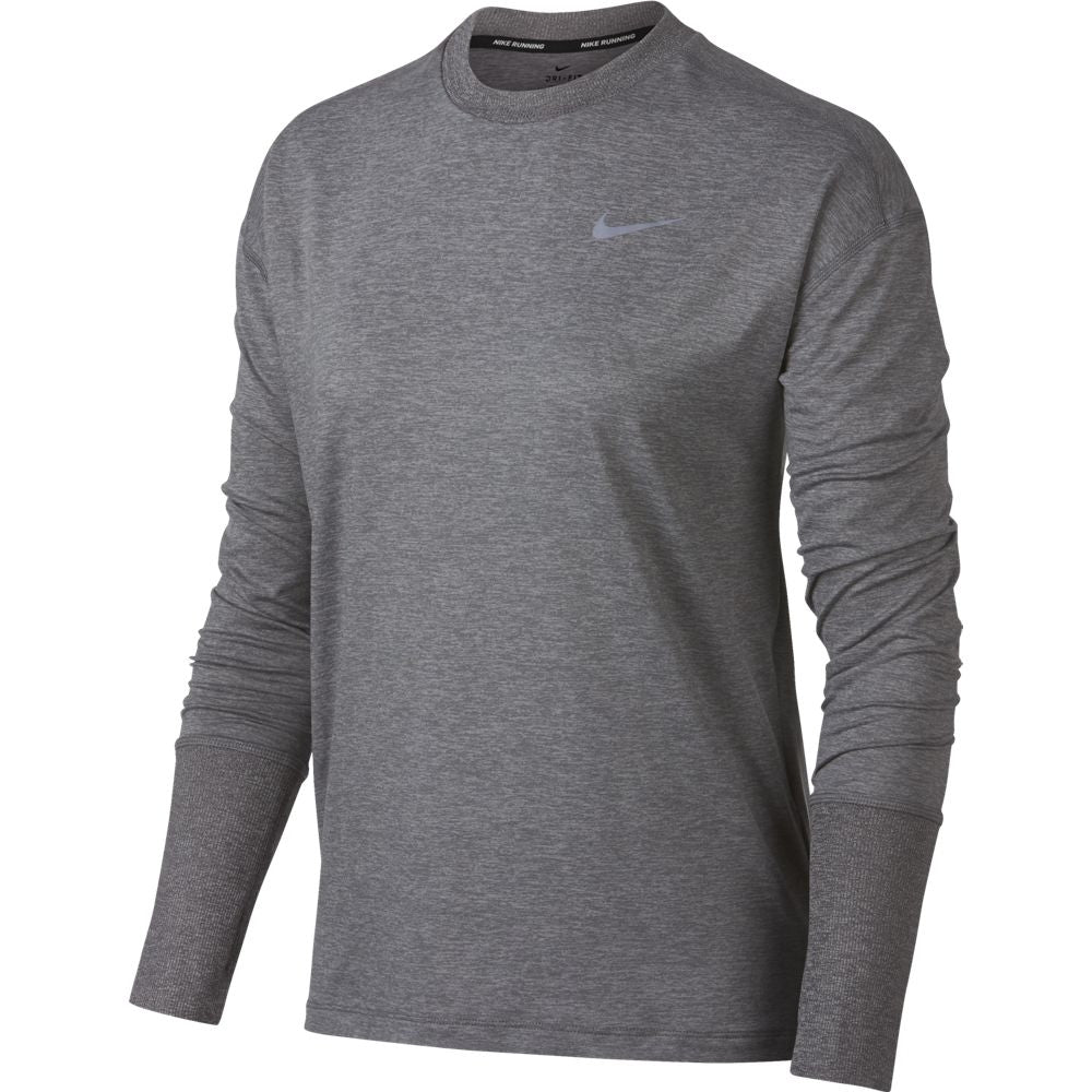 Nike Women's Dry Element Crew Top Gunsmoke /  Grey