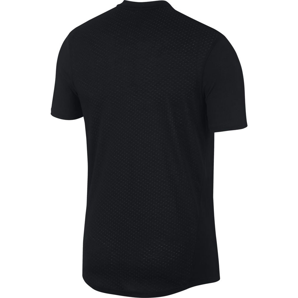 Nike Men's Breathe Rise 365 Tee Black & Sliver FA18 010