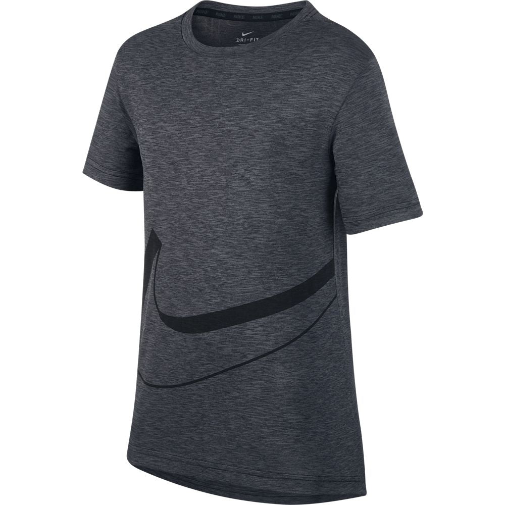 Nike Boys Dri-Fit Breathe Tee Black & Cool Grey FA18 010