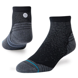 Stance Performance Staples Run Quarter Socks Black - achilles heel
