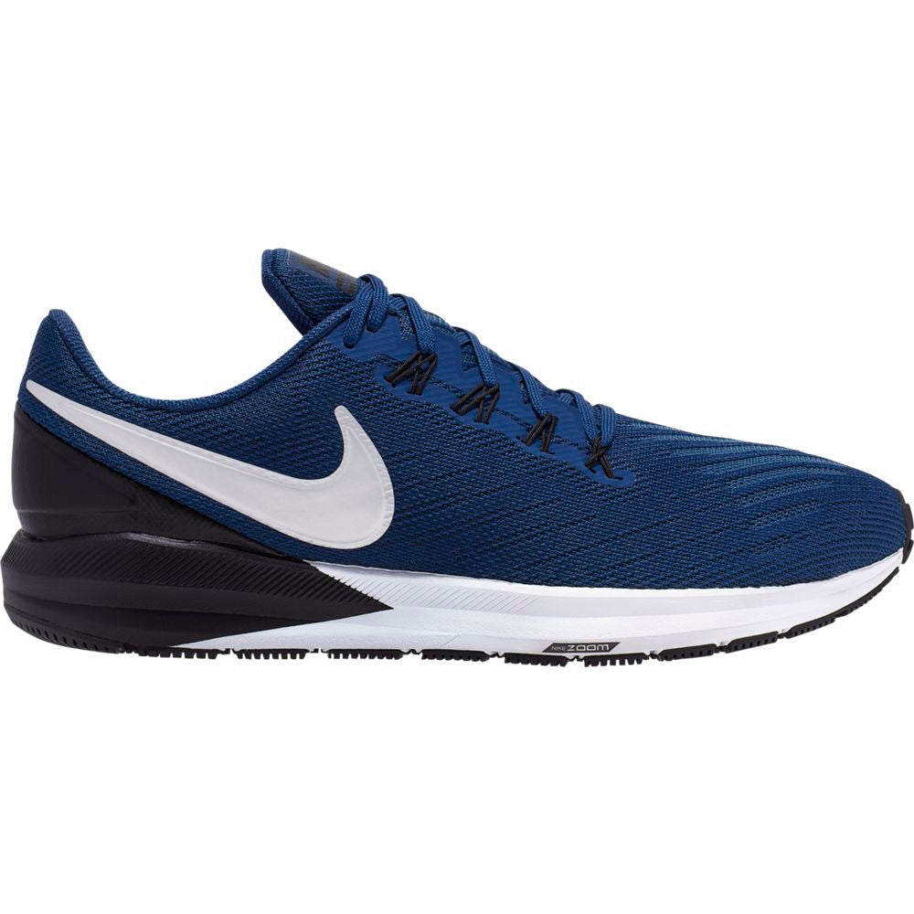 Nike Men's Zoom Structure 22 Running Shoes Coastal Blue / Chrome Black