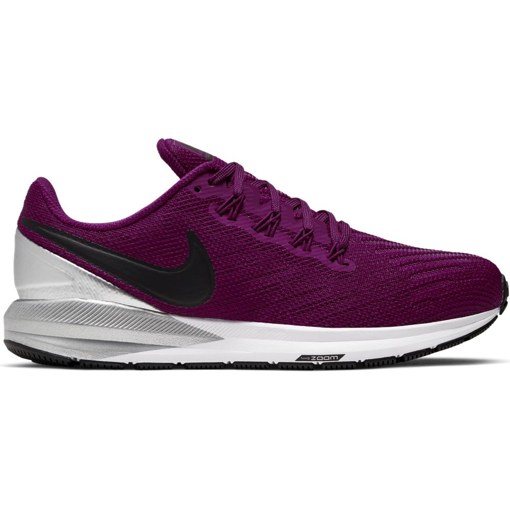Nike Women's Zoom Structure 22 Running Shoes True Berry / Black Chrome / White