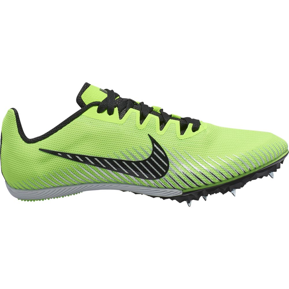 Nike Zoom Rival M 9 Running Spikes Electric Green / Black - achilles heel