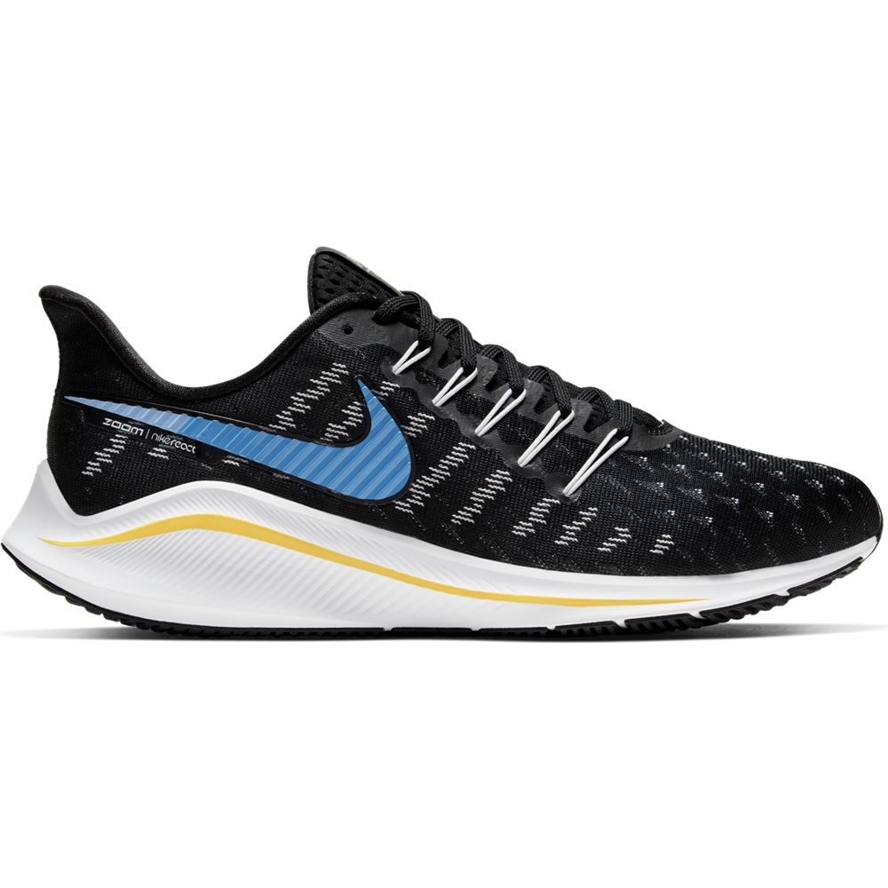 Nike Men's Air Zoom Vomero 14 Running Shoes Black / University Blue / White Psychic Blue - achilles heel