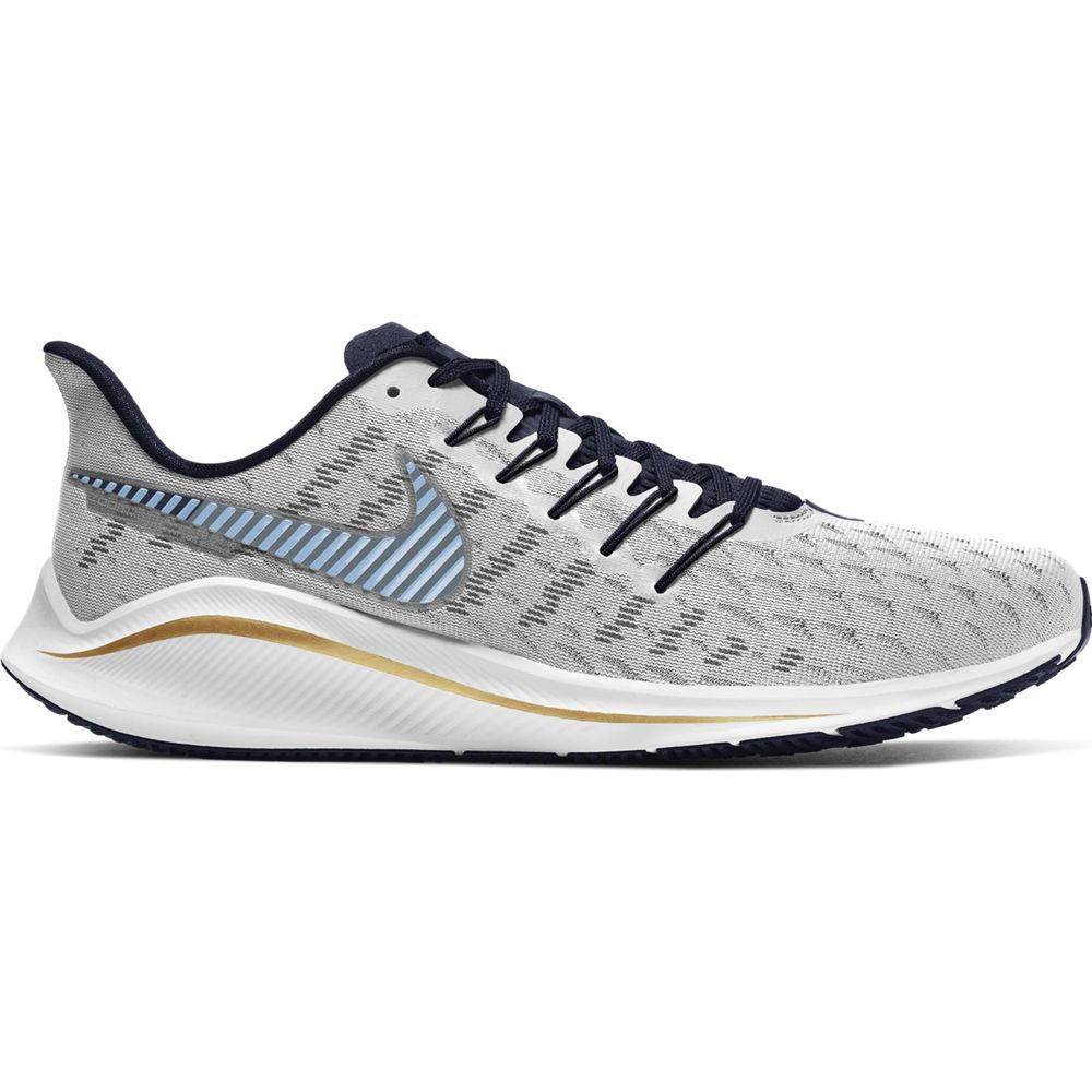 Nike Men's Air Zoom Vomero 14 Running Shoes Photon Dust / Ozone Blue - achilles heel