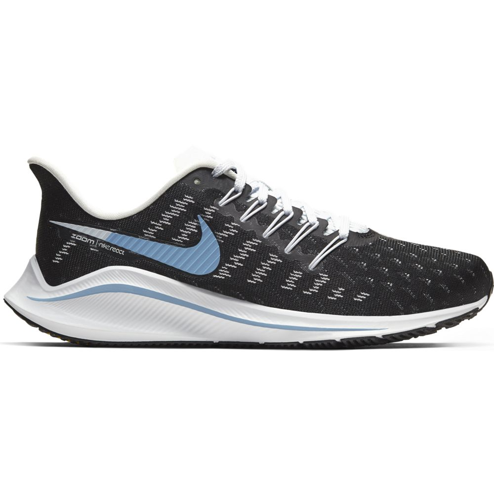 Nike Women's Air Zoom Vomero 14 Running  Shoes  Black / Light Blue / Half Blue