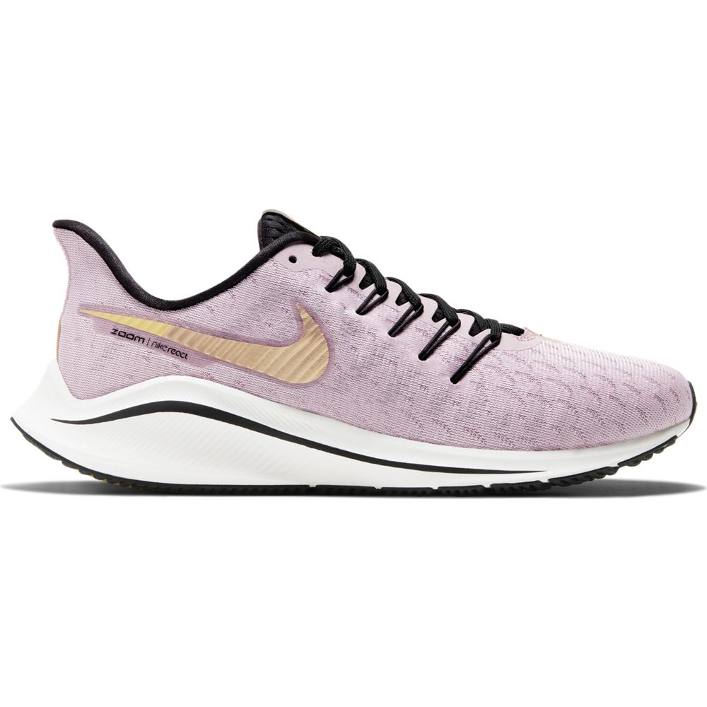 Nike Women's Air Zoom Vomero 14 Running Shoes Plum Chalk / Metallic Gold - achilles heel