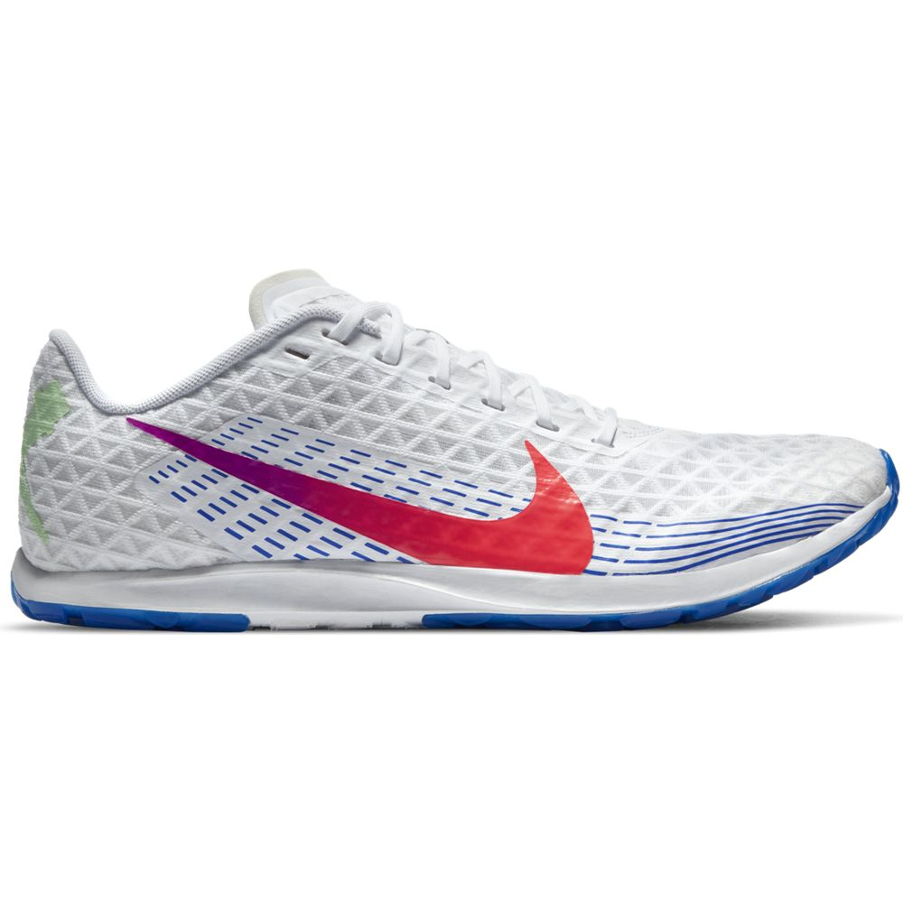 Nike Women's Zoom Rival XC Running Spikes White / Flash Crimson / Black / Hyper Jade - achilles heel