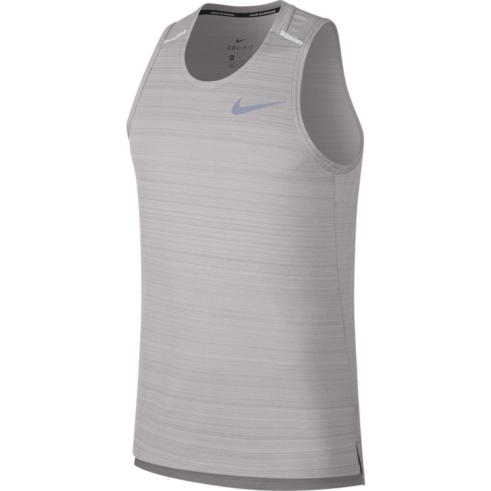 Nike Men's Dry Miler Tank Atmosphere Grey / Reflective Silver