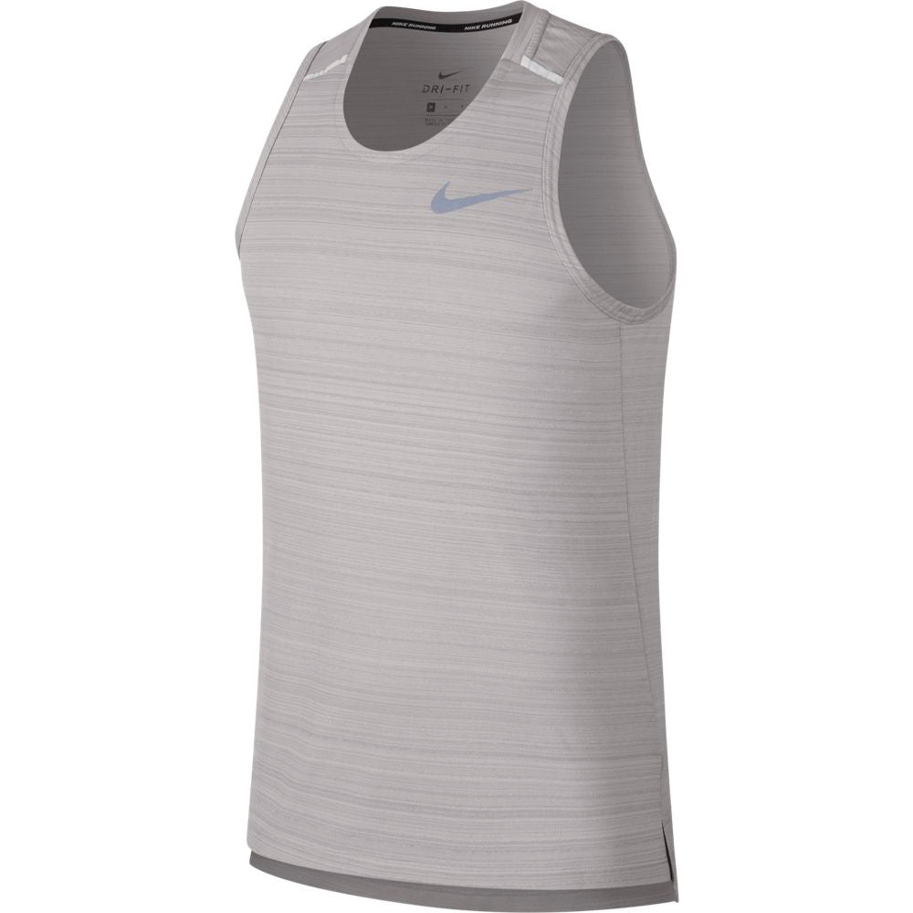 Nike Men's Dry Miler Tank Atmosphere Grey / Reflective Silver - achilles heel