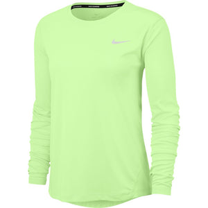 Nike Women's Miler Top Barely Volt / Reflective Silver - achilles heel