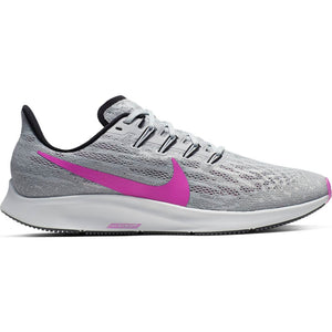 Nike Men's Air Zoom Pegasus 36 Running Shoes Pure Platinum / Hyper Violet
