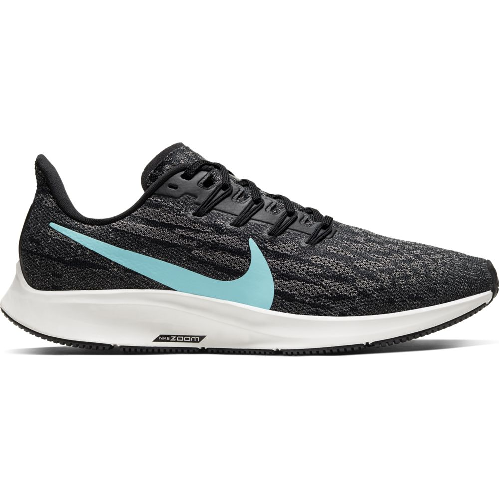 Nike Men's Air Zoom Pegasus 36 Running Shoes Black / Aurora Green / Pumice
