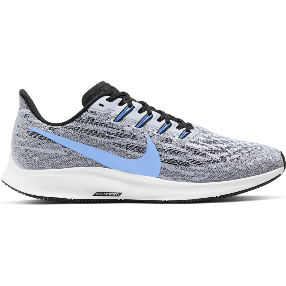 Nike Men's Air Zoom Pegasus 36 Running Shoes White / University Blue / Black - achilles heel