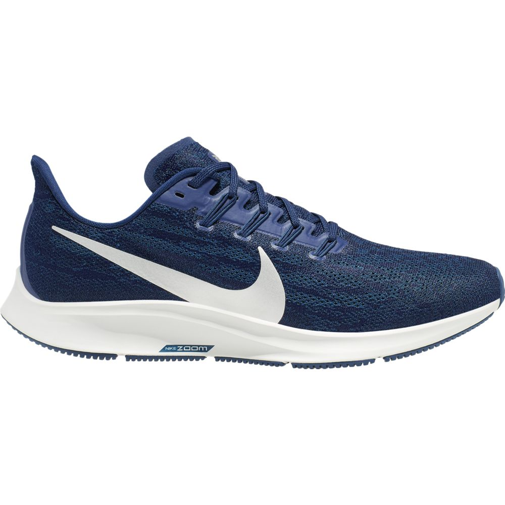 Nike Men's Air Zoom Pegasus 36 Running Shoes Blue Void / Metallic Silver