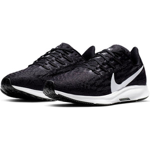 Nike Women's Air Zoom Pegasus 36 Running Shoes Black / White / Thunder Grey - achilles heel