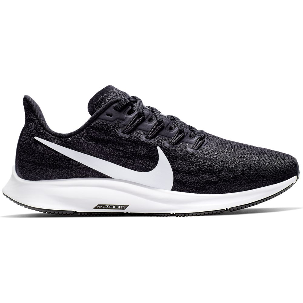 Nike Women's Air Zoom Pegasus 36 Running Shoes Black / White / Thunder Grey