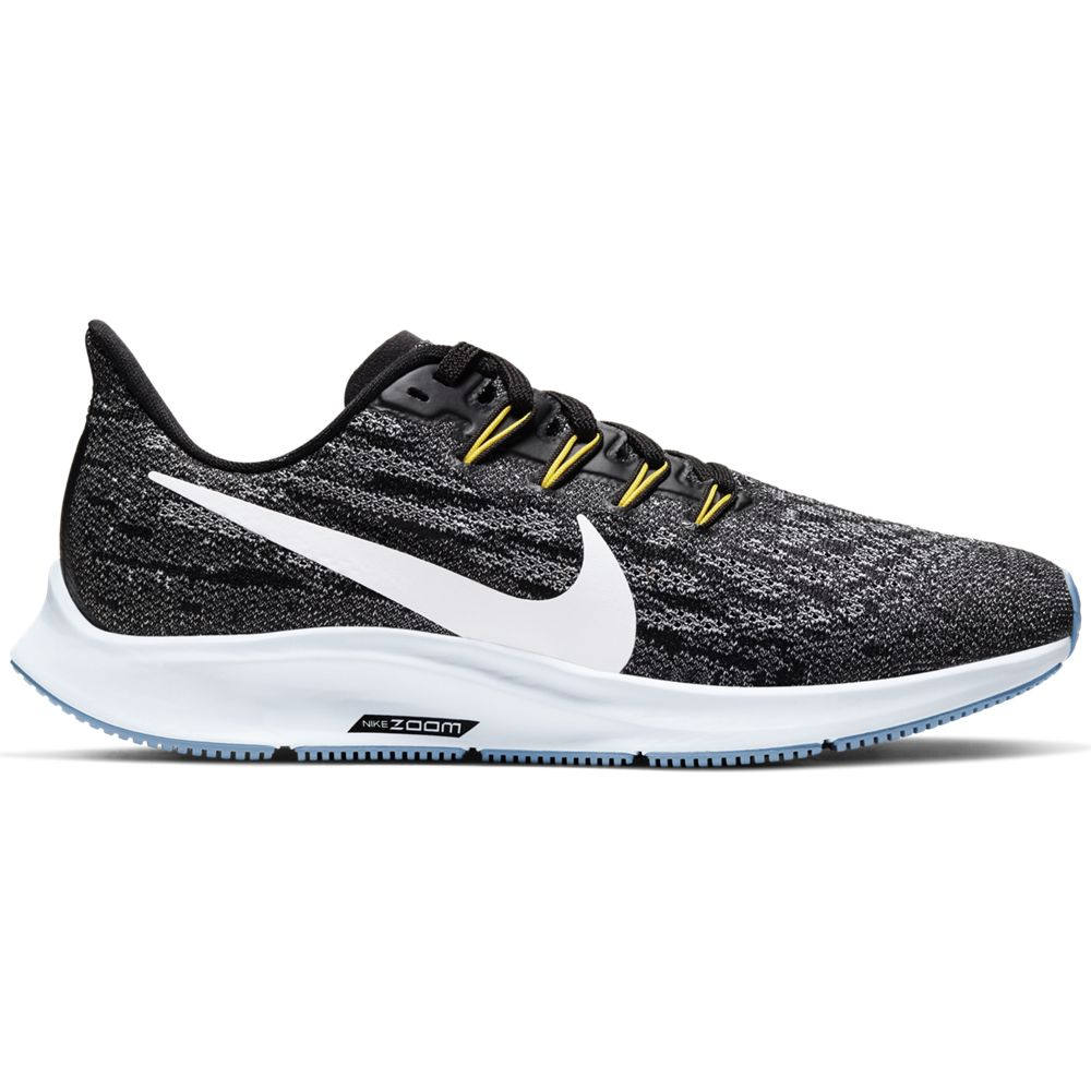 Nike Women's Air Zoom Pegasus 36 Running Shoes Black / White / Half Blue